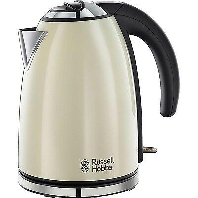Russell Hobbs Colours Electric Kettle ● Stainless Steel, 1.7 L ● Classic Cream