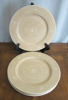 Target Home Northwoods Collection Dinner Plates Tan Snowflake Set of 4 & Target Home Northwoods Collection Dinner Plates Tan Snowflake Set ...