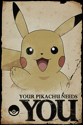 FP4348 POKEMON Pikachu Needs You Maxi Poster 61cm x 91.5cm