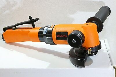 "New Suntech 1.6 HP Heavy Industrial Pneumatic Air 4"" Angle Grinder 3/8""-24"