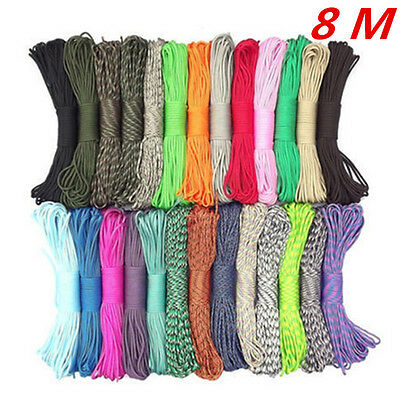 550 Paracord Parachute Cord Lanyard Mil Spec Type III 7 Strand Core 25Ft