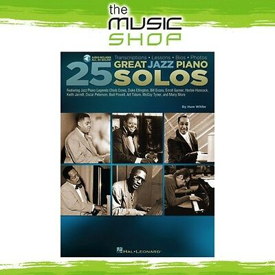 New 25 Great Jazz Piano Solos Music Book with Online Audio Access