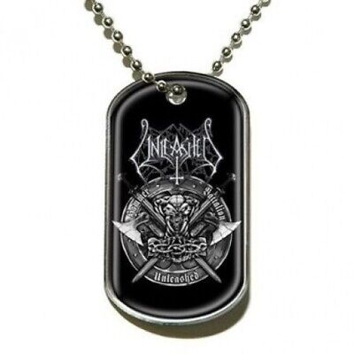 Unleashed Hammer Battalion Dog Tag Necklace Official Death Metal Band Merch