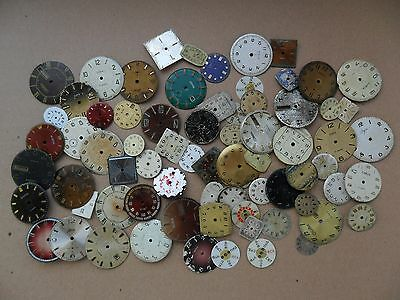 WATCH FASE DIALS 73 pcs OLD  DIALS FOR STEAMPUNK ALTERED ART FOR RESTORATION №64