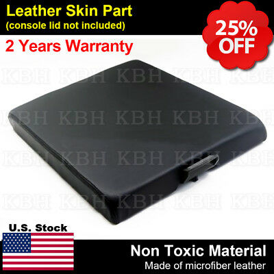 Leather Armrest Console Lid Bench Seat Cover Fits Nissan Titan 2004-2014 Black
