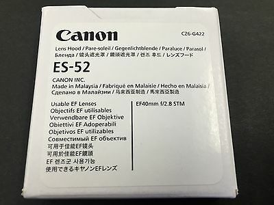 New Canon Lens Hood ES-52 L-HOODES52 5182B001 EF 40mm F2.8 STM from JAPAN