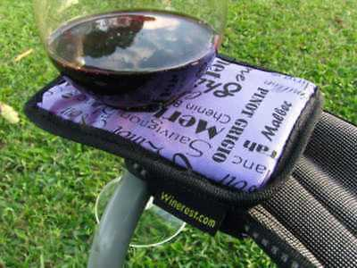 Winerest Camping Chair Wine Glass Holder For The Ladies Single (Winerest)