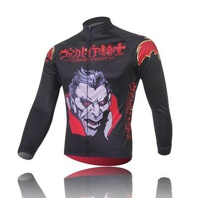 Men's Cycling Clothing Bicycle Long Sleeve Vampire Cycling Jersey Tops
