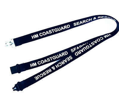 Lanyard Printed HM COASTGUARD  SEARCH & RESCUE with Free ID Holder- RNLI