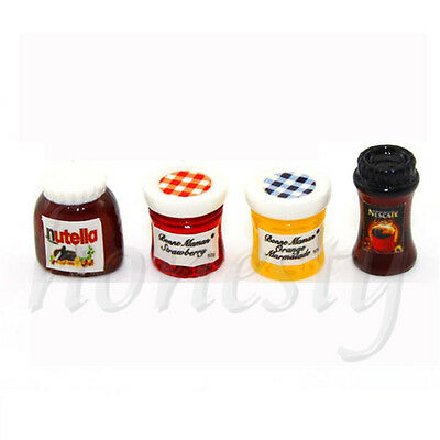1pc Dollhouse Miniature 1:12 Kitchen Food Jam Coffee Condiment Random DIY Decor