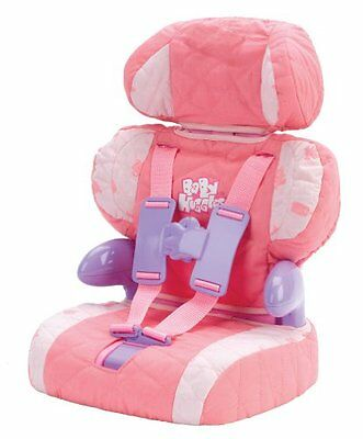 Baby Doll Car Seat Booster with Seatbelt for Safe Traveling with Baby Doll Toy