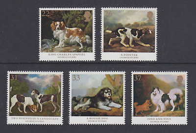 GB MNH STAMP SET 1991 Dogs George Stubbs Paintings SG 1531-1535 UMM