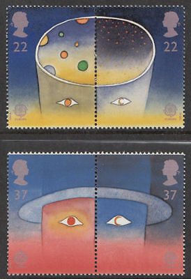 GB MNH STAMP SET 1991 Europa Europe in Space (Joined Pairs) SG 1560-1563 UMM