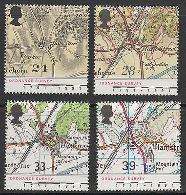 GB MNH STAMP SET 1991 Ordnance Survey SG 1578-1581 10% OFF FOR ANY 5+