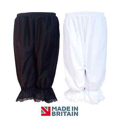 Girls Edwardian / VICTORIAN School Dress UP Lace BLOOMERS Black / White UK Made