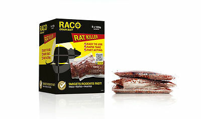 100g Sachet RACO Wheat Grain Bait - Professional Grade Mouse/Rat Bait Poison