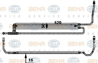 Hella 8Mo 376 726-351 Steering Oil Cooler Fits Bmw 5 (E60) Genuine Wholesale
