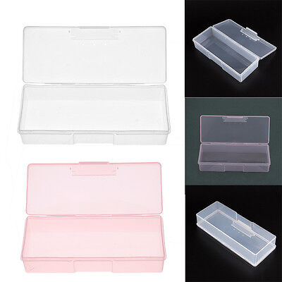 Clear Nail Art Supplies Tools Tips Storage Box Jewelry Case Holder Container