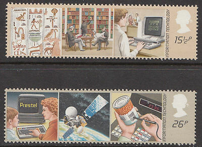 GB MNH STAMP SET 1982 Information Technology SG 1196-1197 10% OFF FOR ANY 5+