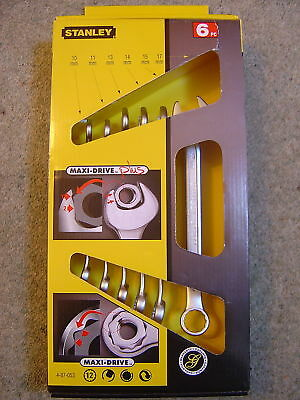 Stanley 6 Piece Metric Maxi Combination Spanner Set 10mm to 17mm NEW 4-87-053