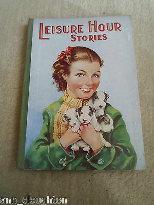 RARE Vintage Retro Book LEISURE HOUR STORIES + Illustrated