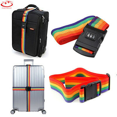 Personalised Colorful Luggage Strap Belt Secure Durable for Travel Suitcase Bag