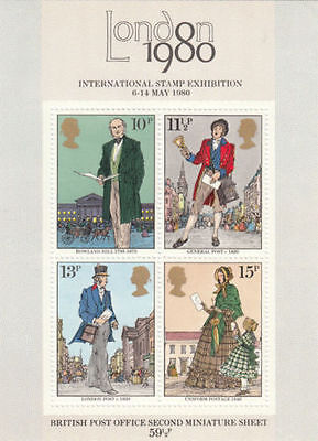 GB MNH STAMP Miniature Sheet Sir Rowland Hill SG MS1099 1979
