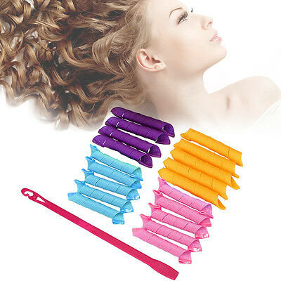 18PCS/Set 30cm Spiral Curlers Rollers Curl DIY Hair Curlers Tool Magic Rollers