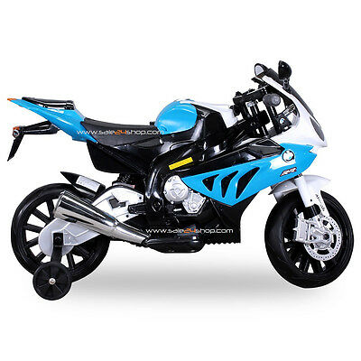 Children Electric car motorcycle BMW S1000 RR Licensed JT528 BLUE