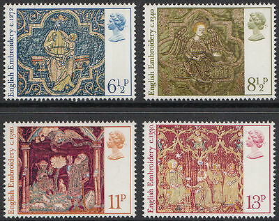 Gb Qeii Mnh Stamp Set 1976 Christmas Embroidery  Sg 1018-1021 10% Off Any 5+