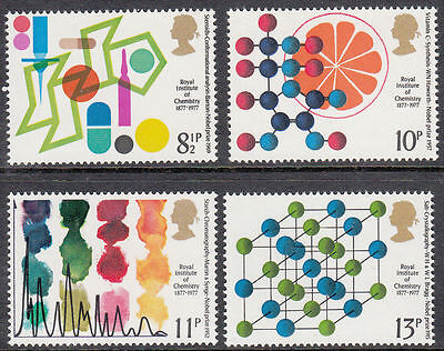 GB MNH STAMP SET 1977 Royal Institute Chemistry SG 1029-1032 UMM