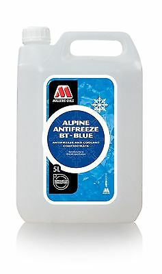 5L Millers Oils Alpine Antifreeze BT BLUE Concentrate  5 Litre