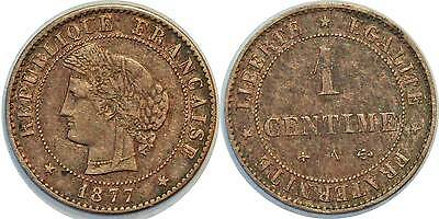 1 Centime Ceres 1877 A F.104