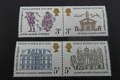 GB QEII 1973 Inigo Jones Pairs Stamp Set MNH SG 935-938 10% OFF ANY 5+