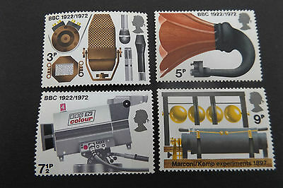 GB MNH STAMP SET 1972 BBC Broadcasting Anniversary SG 909-912 10% OFF FOR ANY 5+