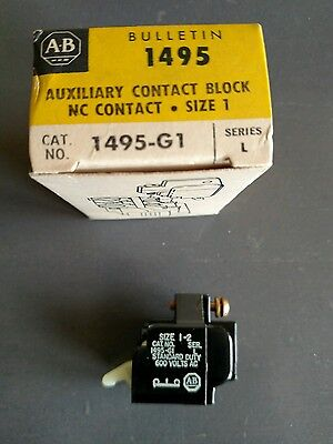 NEW Allen Bradley Auxiliary Contact Block 1495-G1-Lot of 3