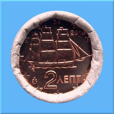 2   Euro - Cent - Rolle - Münzrolle - Griechenland 2010
