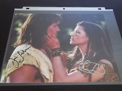 Kevin Sorbo + SAM JENKINS of HERCULES DUAL SIGNED 8X10 PHOTO CELEBRITY SLEUTH