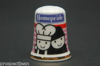 Homepride Flour Graders Advert China Thimble B/146