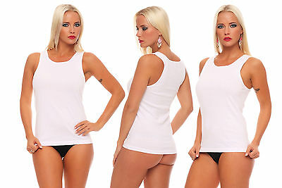 4 to 16 Pieces white Women's Undershirt without Lace 100 combed Cotton white