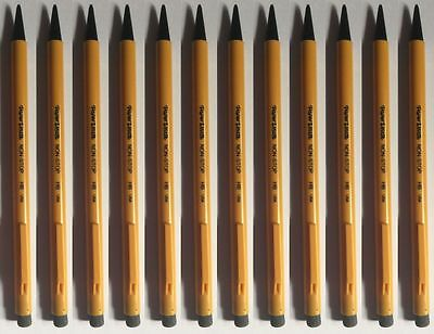 Papermate Non-Stop Mechanical Pencils Yellow Colour Barrels 0.7mm FREEPOST BRAND
