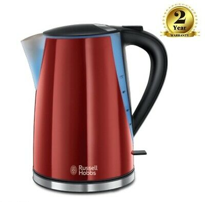 Russell Hobbs 21401 Mode Cordless Electric Jug Kettle 1.7 Litre 3000W Red Gloss