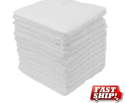 75 new cotton terry cloth cleaning bar towels shop rags 12x12 100% bleach safe