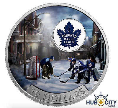 2017 $10 Passion to Play: Toronto Maple Leafs .9999 Fine Silver Coin