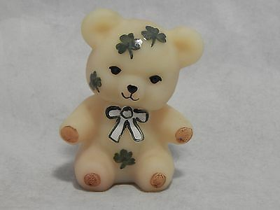 Boyd Glass Hand Painted Shamrocks Bear Figurine