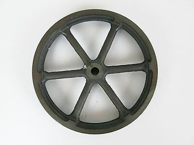 "Cast Iron Smooth Edge Flat Belt Pulley 7"" Diameter 3/4"" Width 3/8"" Bore"