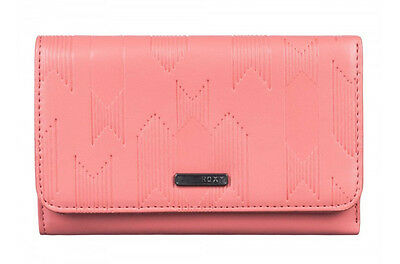 "Brand New +Tags Roxy Ladies Girls Tri-Fold Wallet Purse ""beach Side"" Pink Bnwt"