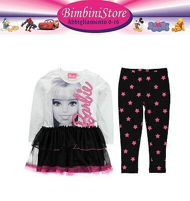 Completo Barbie  tunica leggings  originale disney t-shirt