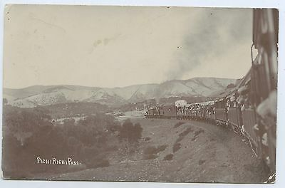 C1909 Rp Pu Postcard Passenger Train Pichi Richi Pass Sa U80