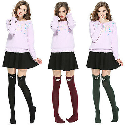 Women Cute 3D Cartoon Animal Pattern Thigh Stockings Over Knee High Socks Groovy